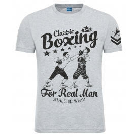 "Футболка LEADER ""Old School Boxing"" серая"