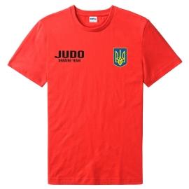 Футболка LEADER ДЗЮДО красная