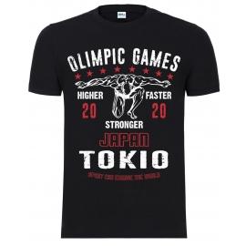 "Футболка LEADER ""OLIMPIC GAMES Tokio 2020"" чёрная"