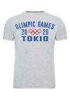 """Футболка LEADER """"OLIMPIC GAMES Tokio 2020"""" серая"""