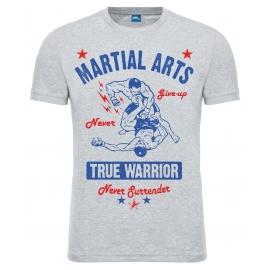 "Футболка LEADER ""True Warrior"" серая"